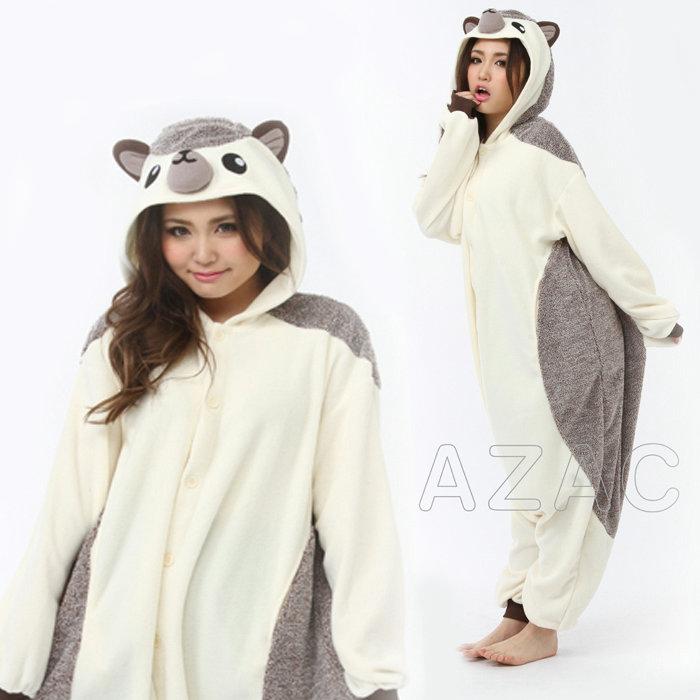 33c34ba3c948 Animal plush fleece-adult. So cute! The Hedgehog! Gown and Pajamas unisex