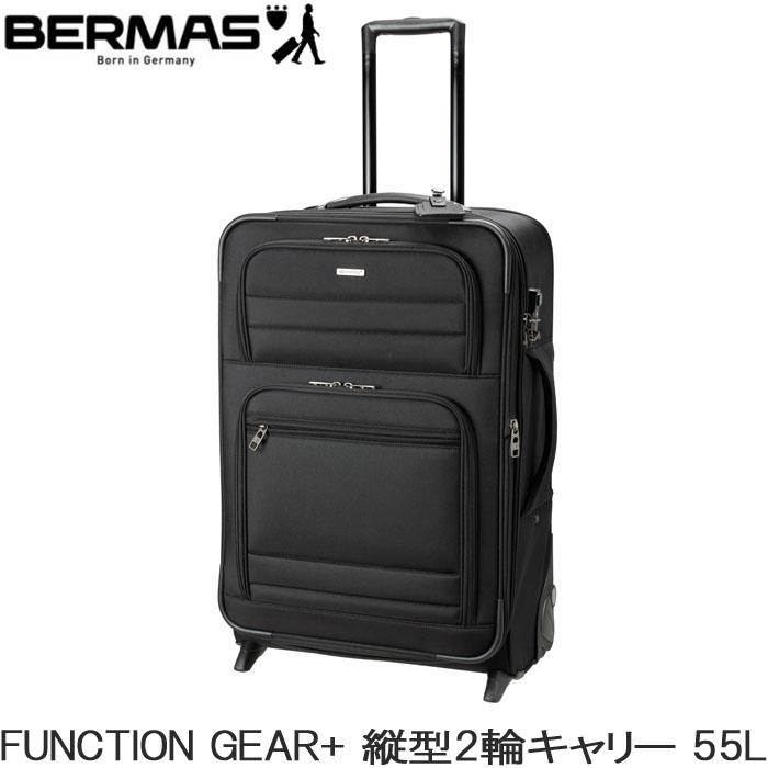 BERMAS キャリーケース ソフトキャリー 縦型 FUNCTION GEAR+ 縦型 64cm 55L 60425 バーマス ビジネスキャリー 出張 高機能 TSAロック 送料無料