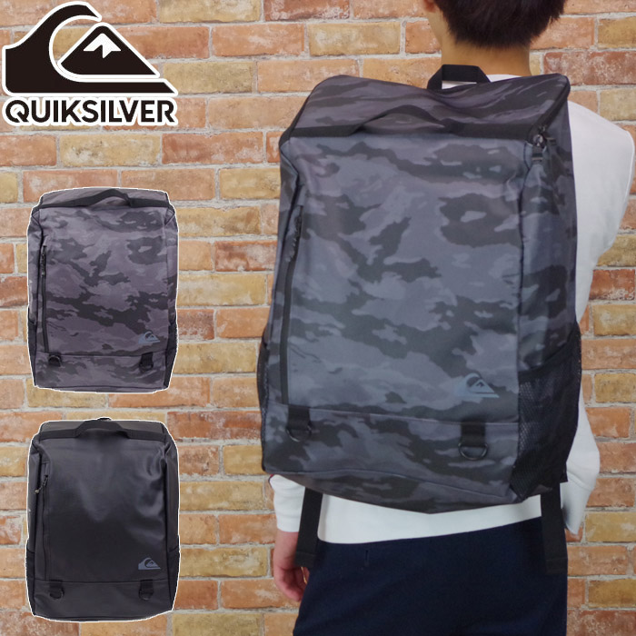 e18b44c03d QUIKSILVER quick silver rucksack men   lady s large-capacity box type BLOCK  BACKPACK L black   gray camouflage pattern QBP184300 rucksack backpack bag  day ...