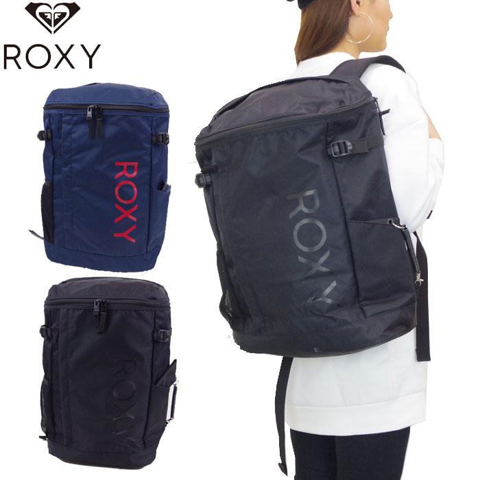 ROXY ロキシー リュック バックパック ボックス型 メンズ/レディース ブラック/ネイビー 27L RBG191310 ロゴ リュックサック デイパック スポーツパック 通勤 通学 送料無料