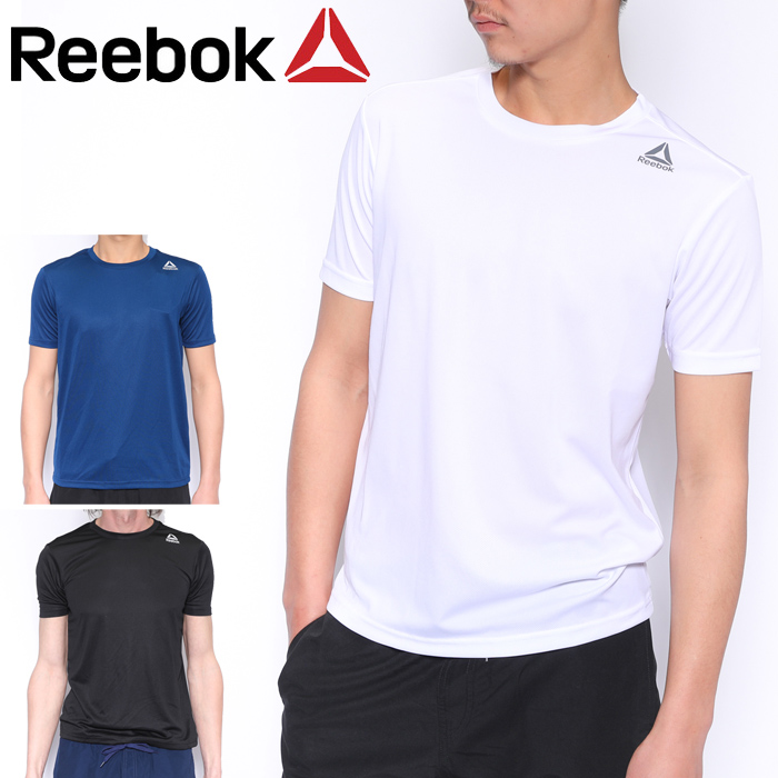 ac9d21d5 Reebok Reebok T-shirt men short sleeves UVT shirt white / black / navy  M/L/LL 429-777 amphibious fitness tops UV cut sports sportswear training  suit