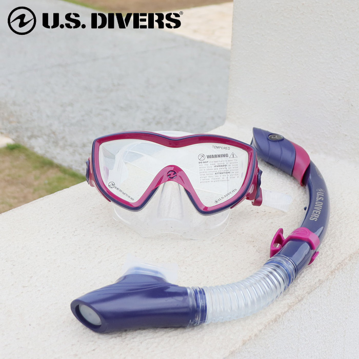US diver s dry snorkel with snorkel sets for adult women s Diva DIVA mask    snorkel 2 point set gift gift gift 13700c1672