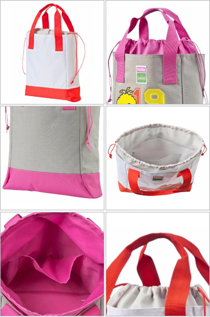 8fc81ed36eba PUMA PUMA bag kids junior Tote shopping bag grey Sesame Street Elmo big  bird shopper 073834