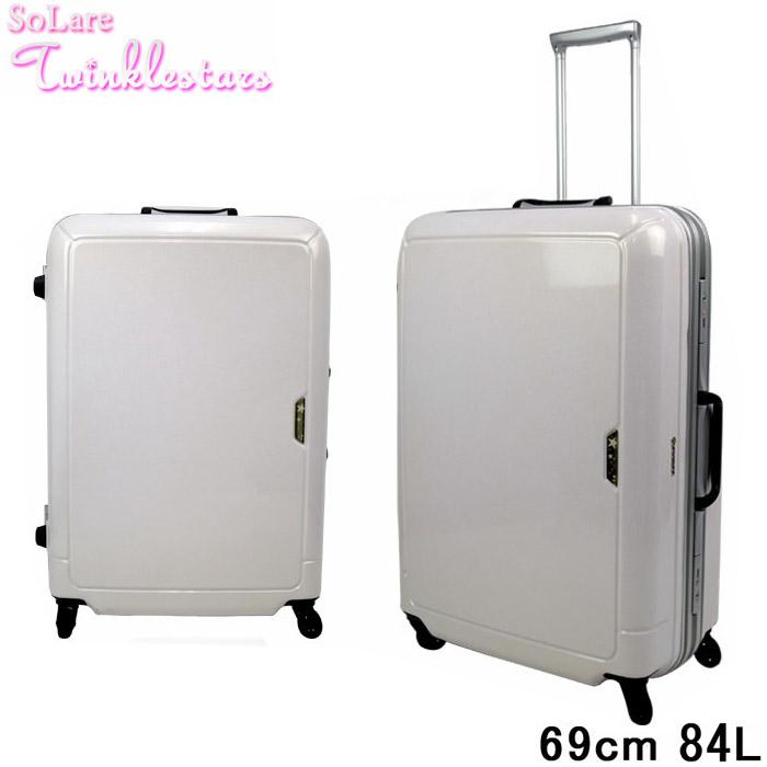 送料無料 キャリーケース スーツケース69cm 84L Twinklestars キラメキコート 鏡面ボディ TSAロック 自己治癒塗装プレミアムコート サンコー鞄 あす楽