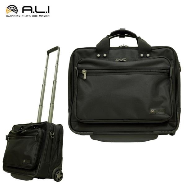 キャリーケース 機内持ち込み A.L.I アジア ラゲージ スーツケース ソフトキャリーケース ブラック ALI-6370 ソフトキャリー ビジネスキャリー 出張 送料無料
