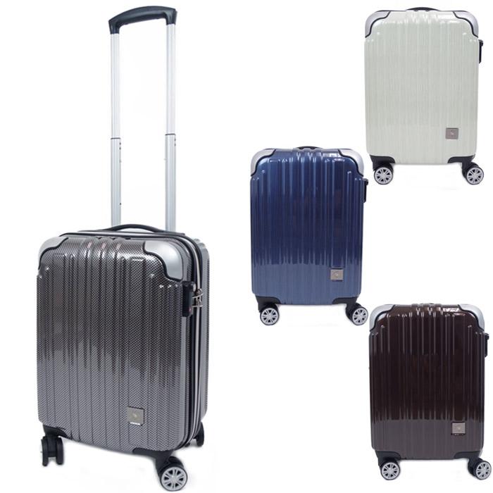 キャリーケース 機内持ち込み Sサイズ スーツケース SANTA BARBARA 拡張型 ファスナー ハードキャリー 全4色 35-38L 2-3泊 SBP-520 トラベルケース キャリーバッグ 旅行 出張 送料無料