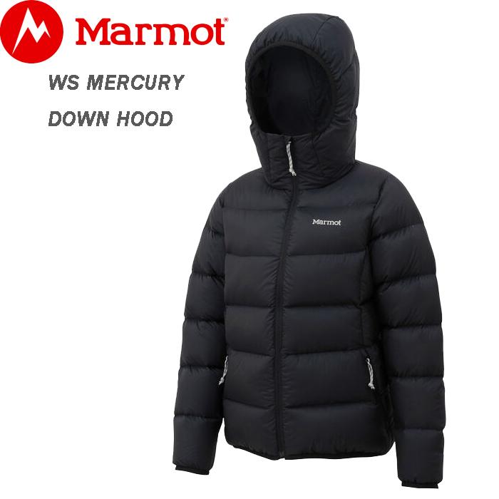 Marmot マーモット ダウンジャケット レディース WS MERCURY DOWN HOOD ブラック M/L TOWOJL27 保温 暖かい ウィメンズ シンプル 防風 防寒 ブランド 自転車 スポーツ 登山 トレッキング ハイキング アウトドア ウェア 送料無料