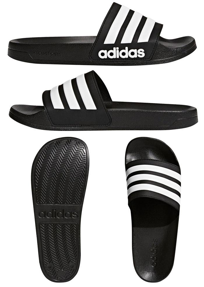 0c80e4bf13fb0 Adidas  adidas sandals shower sandals CF ADILETTE men   Lady s black   white  AQ1701 AQ1702 sports sandals sports gym stylish lightweight pool beach  slippers ...