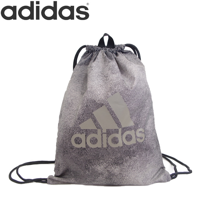 adidas knapsack gym bag big logo GR3 men   Lady s   kids gray 15L ECE05  Adidas sports bag multi-bag drawstring purse shoes case