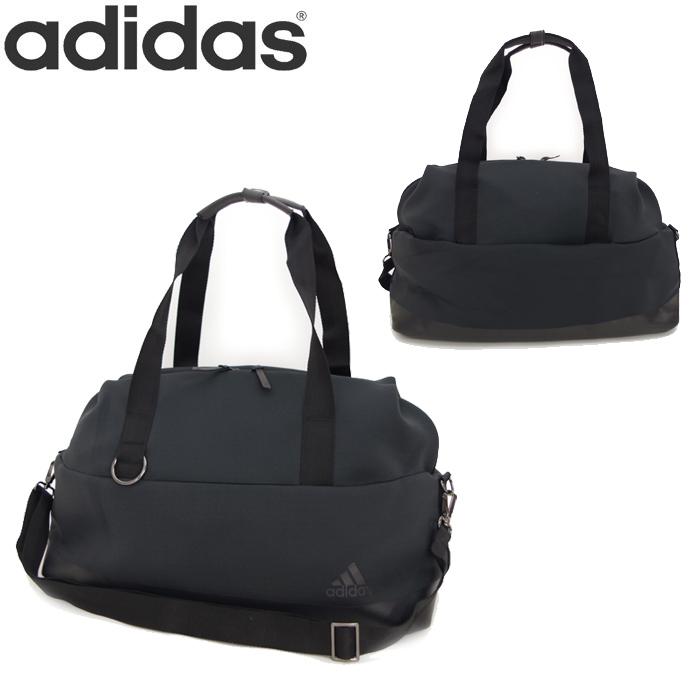 adidas ボストンバッグ レディース VFA 2WAY スポーツバッグ M ショルダーバッグ ブラック アディダス EDI62 スポーツ フィットネス ジムバッグ 鞄 シンプル カジュアル 通勤 旅行 送料無料