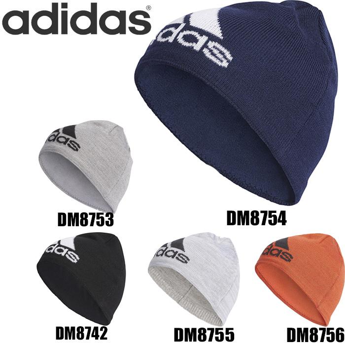 412735df1881a 【 メール便 対応】 adidas アディダス ニット帽 メンズ ビックロゴ ビーニー 全5色 M/L FKL56 帽子 防寒対策 ニット  ニットキャップ サッカー ランニング スポーツ