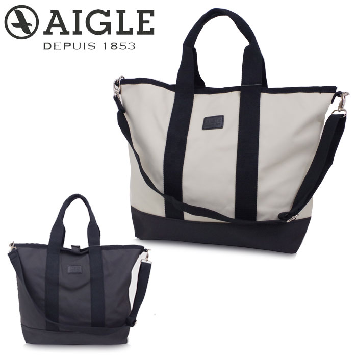 エーグル AIGLE トートバッグ キャンバス レディース メンズ ブラック ホワイト ZNH057J 斜めがけバッグ 2way ショルダーバッグ マザーズバッグ かわいい 肩掛け 旅行 通勤 通学 送料無料