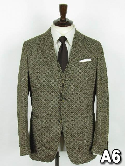 ブラウン系 ボタニカル系 シングル2つボタンスーツ【SP】【アウトレット価格】