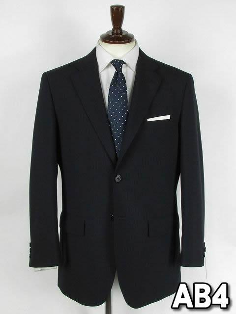 ダークネイビー ストライプ シングル2つボタンスーツ【アウトレット価格】