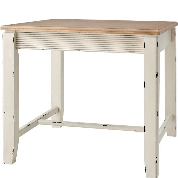 【店内全品送料無料】 ダイニングテーブル ホワイト アンティーク ナチュラル ハイタイプ