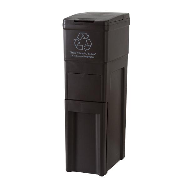 【店内全品送料無料】 ダストボックス インテリア ゴミ箱 42L ブラウン