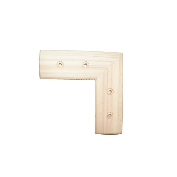 補強鋼入 木材 国産ひのき 補強 工作 木製 平横継手 DIY 爆買いセール 予約 80mm ヒノキ隅金木製隅金