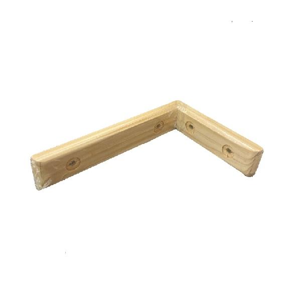 補強鋼入 木材 国産ひのき 補強 発売モデル 送料無料カード決済可能 工作 木製 手木製棚受 105x195 ヒノキ隅金木製隅金 DIY