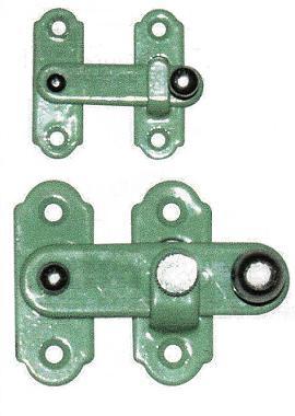 簡単な戸締り用金物としてどうぞまた セール品 補助錠としてもつかえます 簡単な戸締り 国内送料無料 大グリーン 箱やケースの蓋の開閉に塗打掛