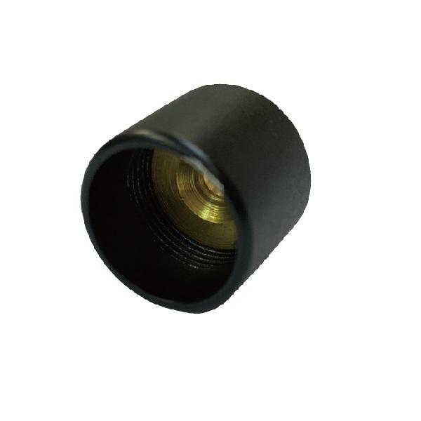 商品 パイプ支持 パイプジョイント パイプ接続 25 ブラック真鍮キャップソケット 最安値