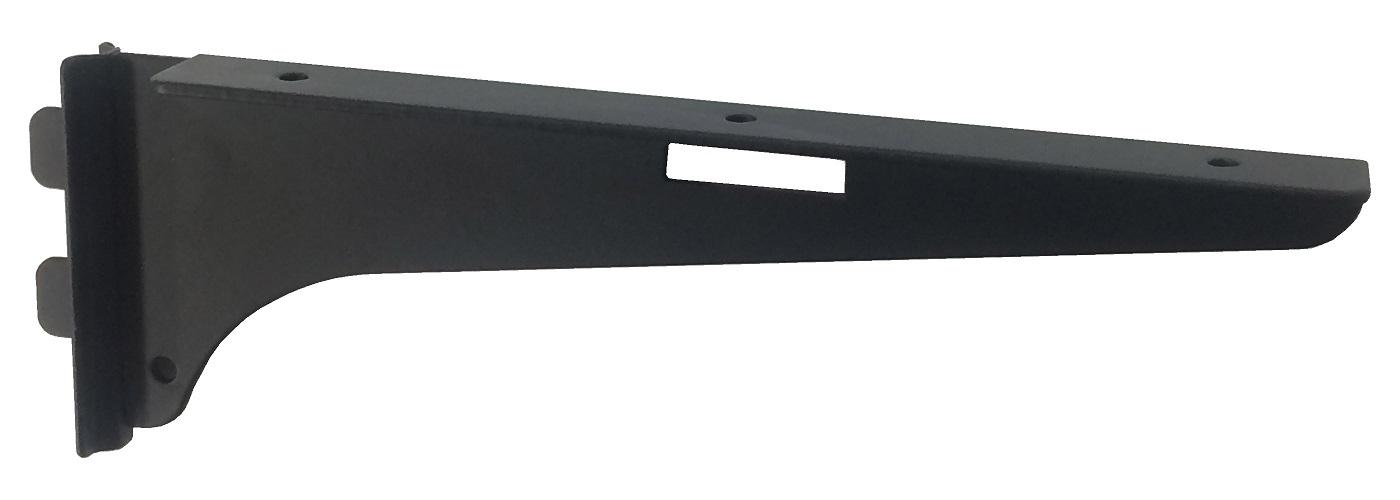 定番スタイル 棚板をビス止めできます カラーシェルフ棚受 木棚取付穴付150右黒棚板取付穴有タイプ 贈与