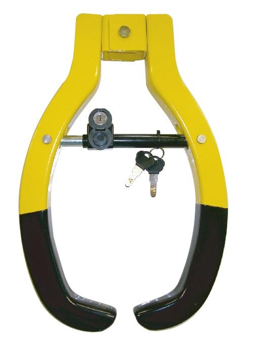 車両盗難防止 大型鍵 目立つ鍵として車両タイヤ錠 OUTLET SALE 配送員設置送料無料