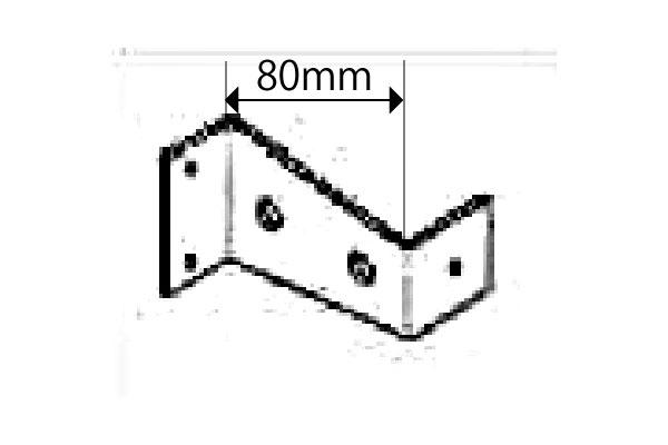 即納 こちらの商品のみでの購入はできません 限定特価 必ずYKKAPたて面格子LAとセットでご購入下さい 壁付けブラケット 出幅60mmから80mmへ変更 たて面格子 1セット4個入り YKKap