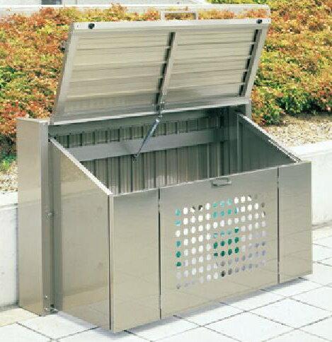 四国化成 ゴミストッカー CP1型 折りたたみ式 ゴミ置き場 ゴミ収集庫 ゴミ箱 45L アルミ 【1509】※オプション品(ガススプリング交換キット・サインシート)は含まれておりません。