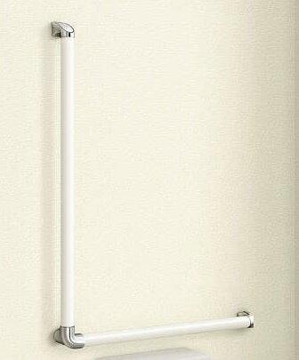 玄関 廊下や階段 トイレに設置可能な手すり 『 L 型手すりセット 』 サイズ 長さ 79.5cm YKKAP製 ラフォレスタ