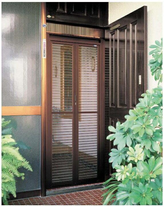 玄関ドア用網戸 87198 ドア用 網戸 一般タイプ YKKap 玄関用 中折網戸 W:875mm x H:1,981mm ※取付工事ご希望の方はご相談下さい。
