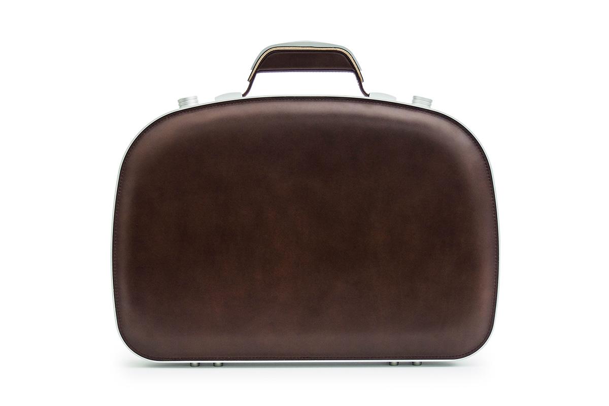 BLAUDESIGN ブラウデザイン ブリーフケース ブラウン レザー 茶色 本革 メンズ ビジネスバッグ 通勤 アルミフレーム