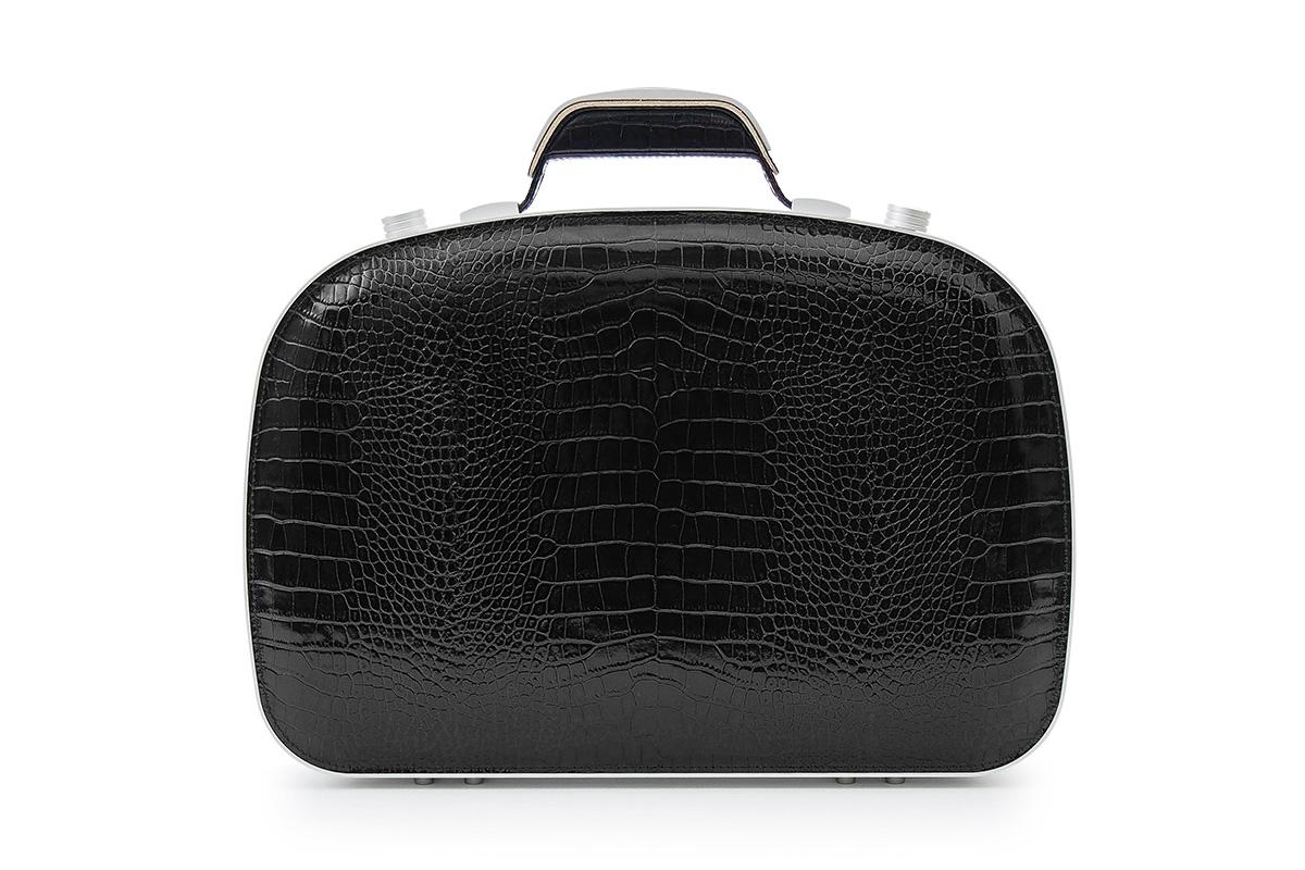 BLAUDESIGN ブラウデザイン ブリーフケース クロコダイルブラック レザー 黒 本革 メンズ ビジネスバッグ 通勤 アルミフレーム