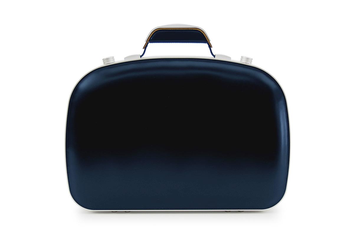 BLAUDESIGN ブラウデザイン ブリーフケース ネイビー レザー 紺 本革 メンズ ビジネスバッグ 通勤 アルミフレーム