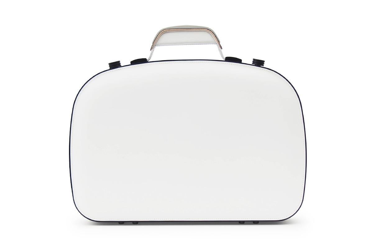 BLAUDESIGN ブラウデザイン ブリーフケース ピアノホワイト レザー 白黒 本革 メンズ ビジネスバッグ 通勤 アルミフレーム ピアノ塗装