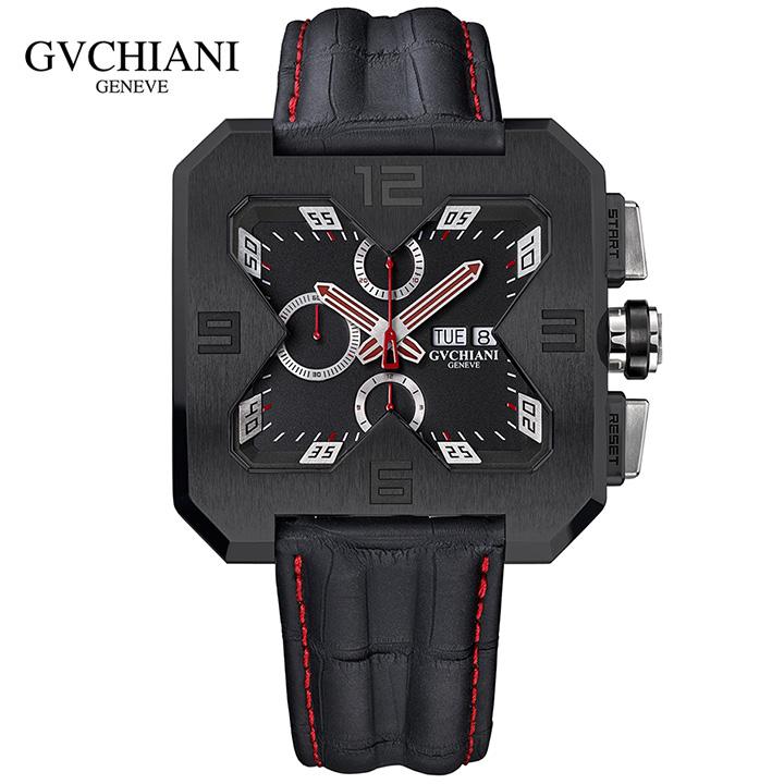 GVCHIANI(ブチアーニ)BIG SQUARE BLACK TITANIUM ビッグスクエア ブラックチタン スイス高級腕時計 メンズ機械式腕時計