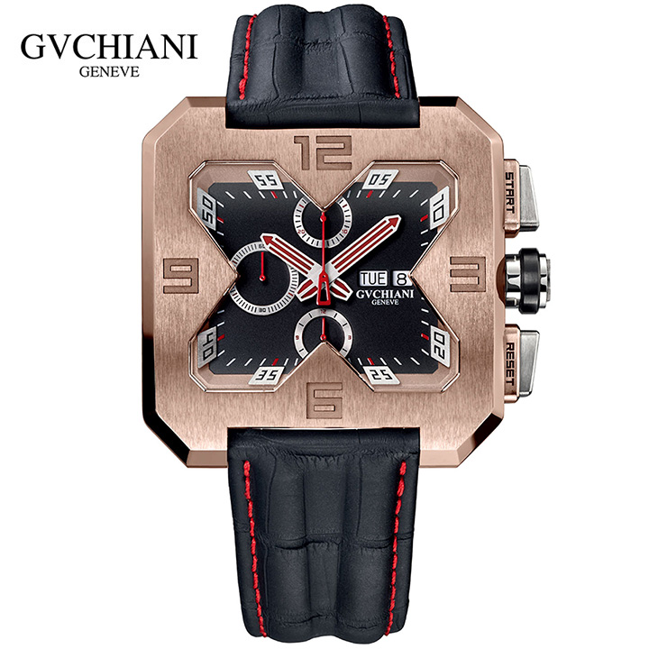 GVCHIANI(ブチアーニ)BIG SQUARE ROSE GOLD ビッグスクエア 18Kローズゴールド スイス高級腕時計 メンズ機械式腕時計