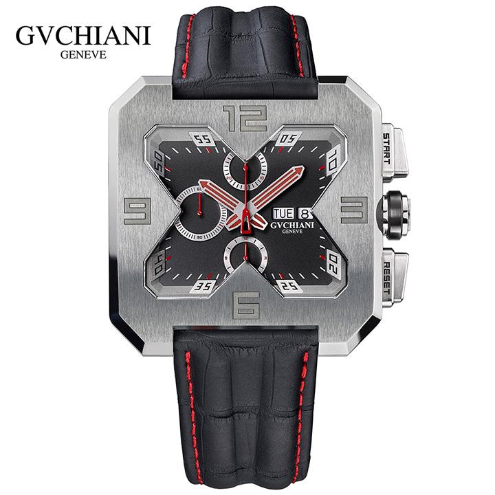 GVCHIANI(ブチアーニ)BIG SQUARE TITANIUM ビッグスクエア チタン スイス高級腕時計 メンズ機械式腕時計