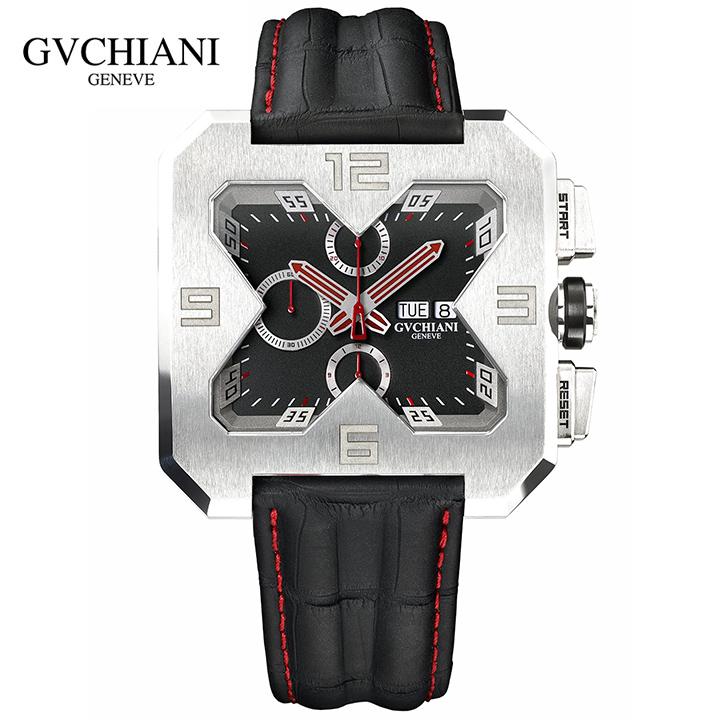 GVCHIANI(ブチアーニ)BIG SQUARE WHITE GOLD ビッグスクエア 18Kホワイトゴールド スイス高級腕時計 メンズ機械式腕時計