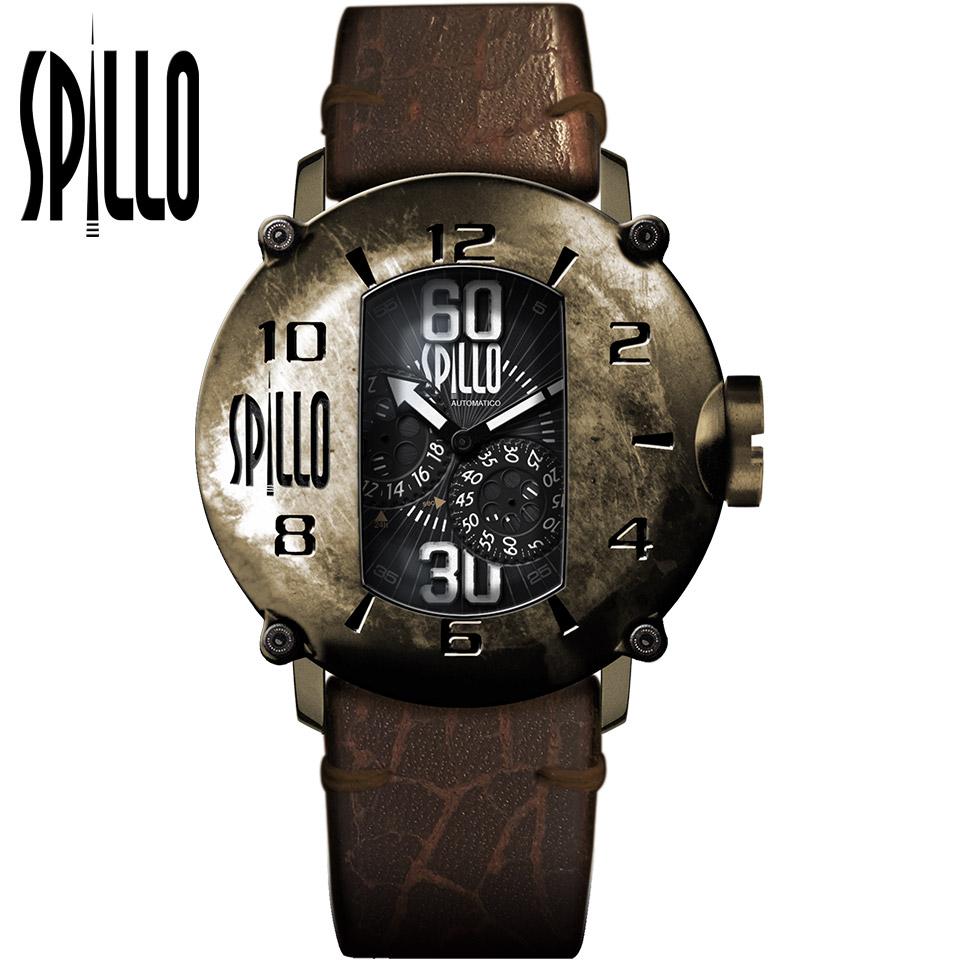 SPILLO(スピーロ)SPEED DEMON SD917KB-13BROWN ブロンズ/ブラウン イタリアンレザー メンズ機械式腕時計
