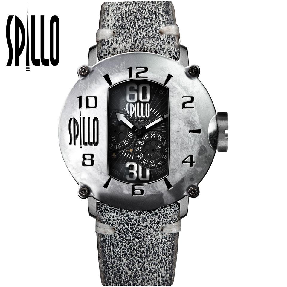 SPILLO(スピーロ)SPEED DEMON SD917KS-06GRAY スティール/グレー イタリアンレザー メンズ機械式腕時計