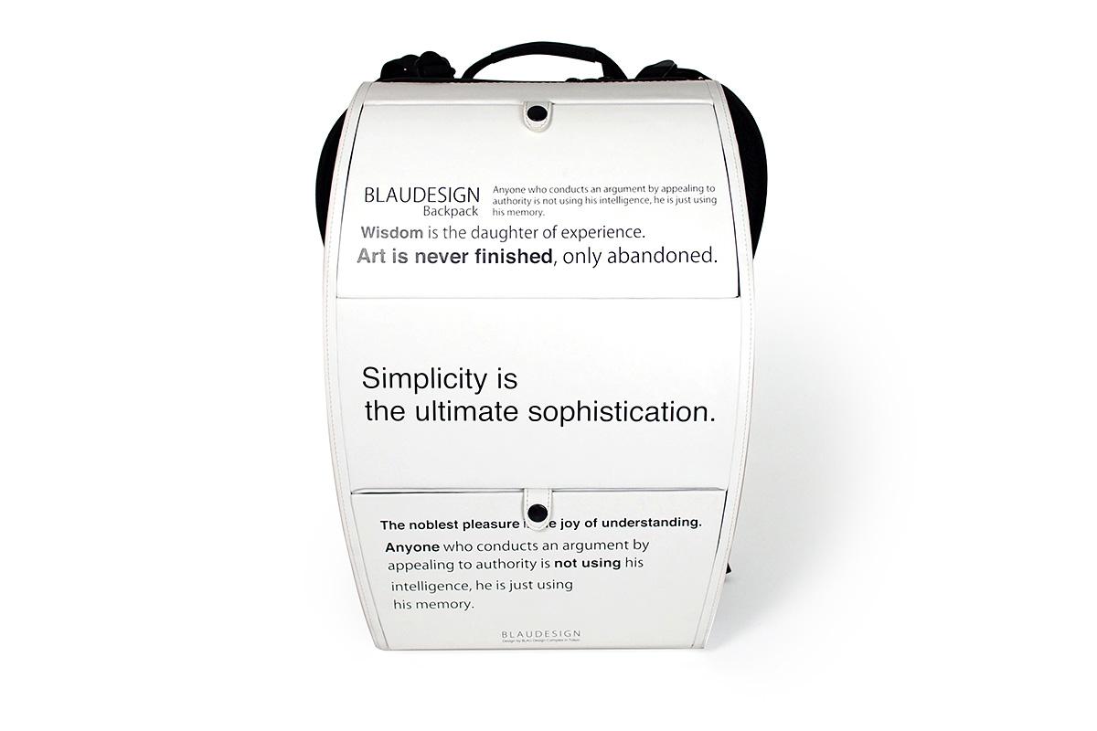 BLAUDESIGN Backpack ブラウデザイン ハードシェルバックパック ホワイトプリント 本革 メンズ ビジネスリュック ハードシェルリュック 通勤リュック