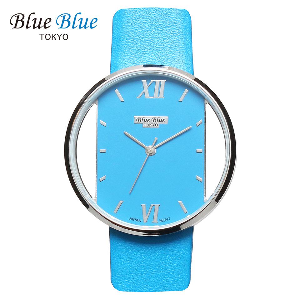 ブルーブルートウキョウ レディース腕時計 BlueBlue TOKYO BR36 ライトブルー/シルバー ミニマルデザイン ファッションウォッチ ユニセックス 東京ブランド 青 水色