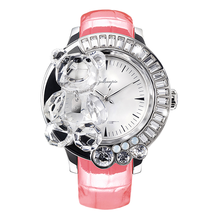 スワロフスキーのキラキラ腕時計 Galtiscopio(ガルティスコピオ) DARMI UN ABBRACCIO 熊12