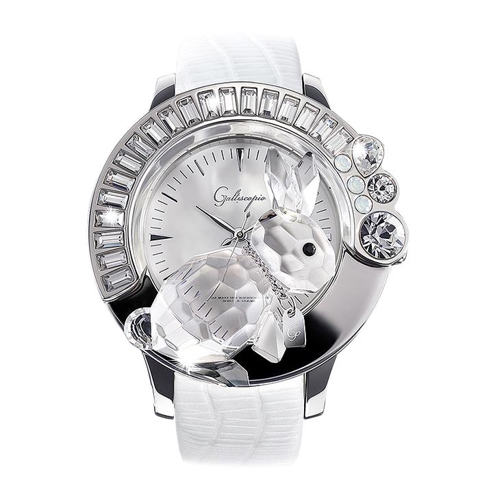 スワロフスキーのキラキラ腕時計 Galtiscopio(ガルティスコピオ) DARMI UN ABBRACCIO 兎3