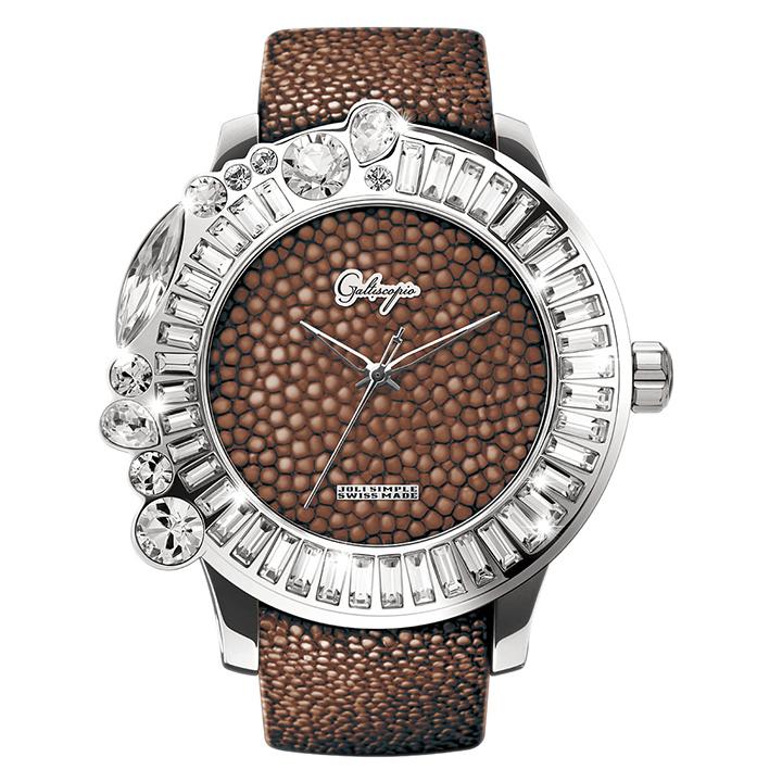 ガルーシャとスワロフスキーの腕時計 Galtiscopio(ガルティスコピオ) JOLI SIMPLE JS2 ブラウン ガルーシャベルト