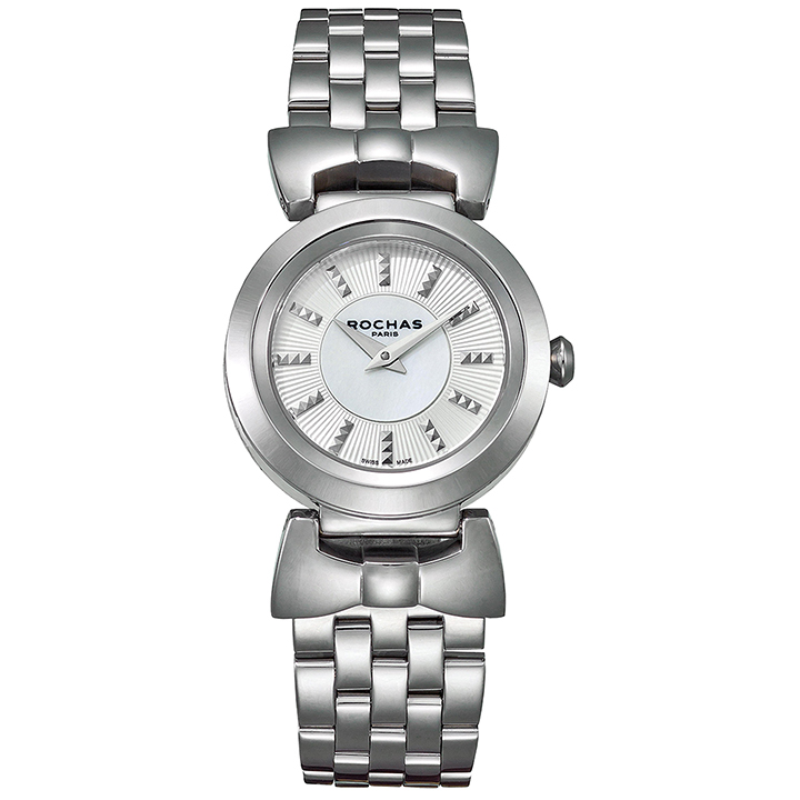 ファッション界を代表するフランスのラグジュアリーブランド ROCHAS(ロシャス)のレディース腕時計 ARTDECO06 シルバー/シルバー アールデコ リボンモチーフ メタルブレスレット パリコレ スイス製