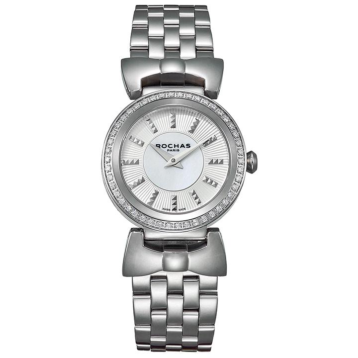 ファッション界を代表するフランスのラグジュアリーブランド ROCHAS(ロシャス)のレディース腕時計 ARTDECO08 シルバー/シルバー アールデコ リボンモチーフ SSブレスレット パリコレ スイス製