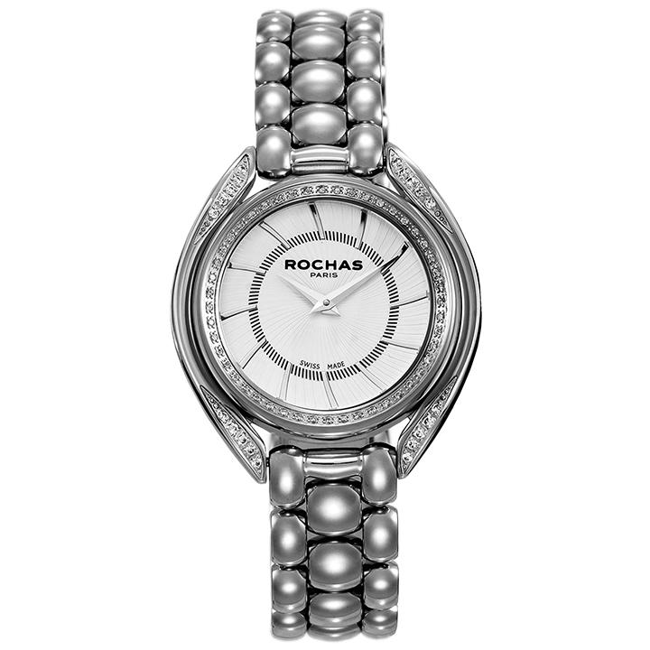世界的に有名なフランスのラグジュアリーブランド ROCHAS(ロシャス)のメンズ腕時計 CASCADE01 シルバー SSブレスレット スイス製 ファッション