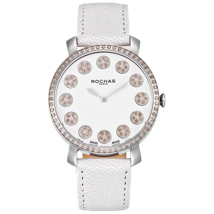 [ポイント10倍]フレグランスが世界的に有名なフランスのファッションブランド ROCHAS(ロシャス)のレディース腕時計 RJ14 ホワイト/シルバー/ホワイト