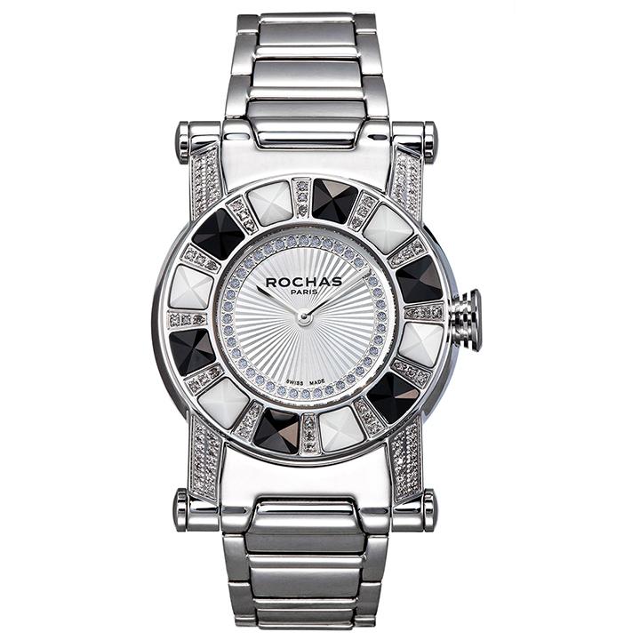 世界的に有名なフランスのラグジュアリーファッションブランド ROCHAS(ロシャス)の男女兼用腕時計 RJ26 シルバー ダイヤモンド メタルブレスレット ジュエリーウォッチ スイスメイド